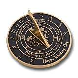 Unique Wedding Gift Idea for A Special Couple. A Sunny Days Sundial Makes A Great Marriage Present for The Bride and Grooms Garden Or Home Décor Ornament. by The Metal Foundry UK
