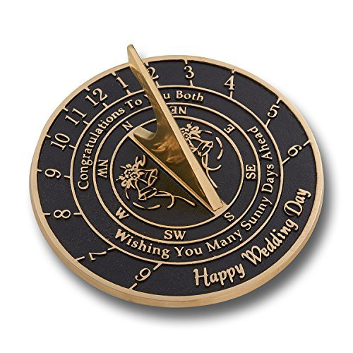 Unique Wedding Gift Idea for A Special Couple. A Sunny Days Sundial Makes A Great Marriage Present for The Bride and Grooms Garden Or Home Décor Ornament. by The Metal Foundry UK by The Metal Foundry Ltd