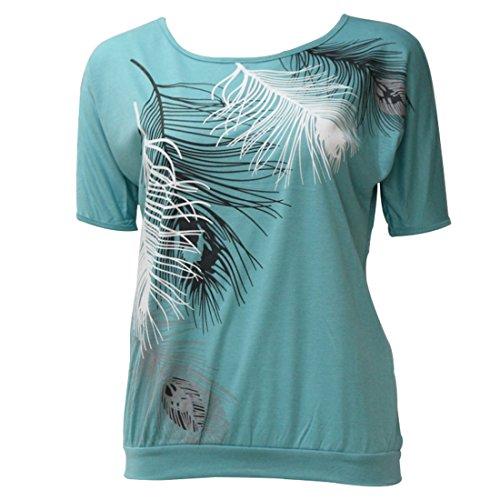 Maglietta Aiweijia Stampata Scoperte Maglietta Maglietta con Corte Allentata Maniche da Maglietta Donna a da Donna Donna Spalle da rFqFt7w