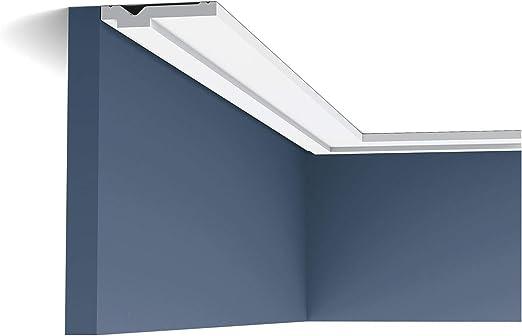 Perfil de estuco Moldura Cornisa Orac Decor PX103 AXXENT Elemento decorativo para pared y techo 2 m