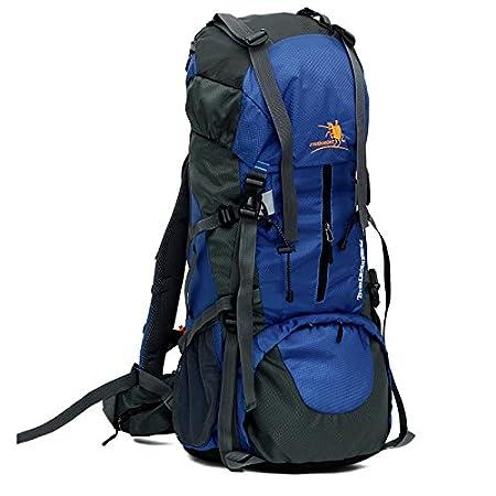 LITTHING Mochila 65+5L Unisexo Multifuncional Senderismo Impermeable Resistente a Agua, Alpinismo Mochila de Viaje Camping Ciclismo Deportes: Amazon.es: ...