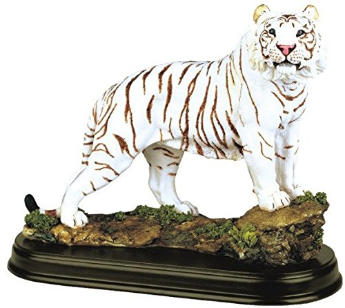 StealStreet SS-G-19718 White Tiger Collectible Wild Cat Animal Decoration Figurine Statue (Tiger Decorations)