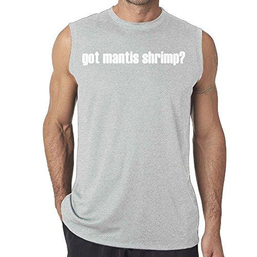 [DianQ GOT MANTIS SHRIMP Cool T-shirt Sleeveless Ash XXL] (Trap King Costume)
