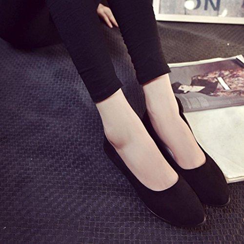 37 Damen Größe Flache Rot Casual LHWY 41 Büro Frauen Schuhe Ballerina Schwarz Rutschfest Slipper Schwarz Weiche Sandalen Mädchen Business Sohle Schuhwerk UTq4Td