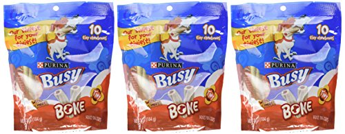 Busy Bone Adult Chewbones – Tiny – 6.5oz 3 Pack