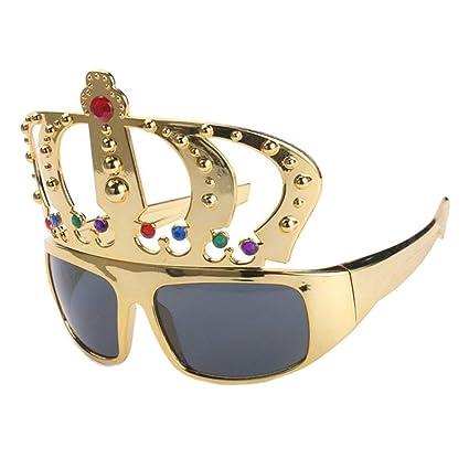 Amazon.com: Gafas de sol divertidas con diseño de corona con ...