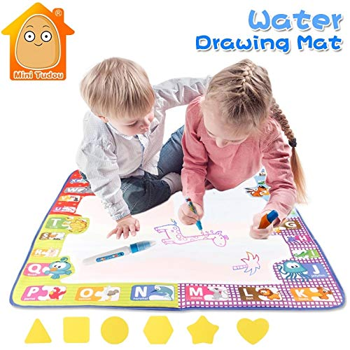 Laliva Educational 7878CM Aquadoodle Mat 4color with 3 Water Pen and Drawing Modle Kids Learning Art and Craft Painting Toys