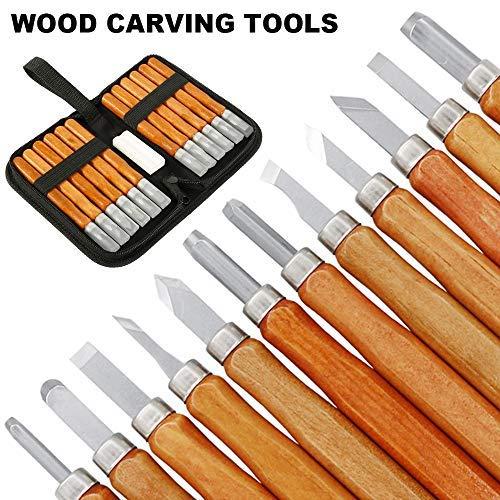 12PCS//Set Wood Carving Cutter Set Woodcraft DIY Tools Hand Fits Woodworking