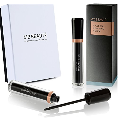 Eyebrows Growth Serum , M2BROWS Eyebrows Renewing Serum & M2Beaute Gift Box, Highest German Quality Professional Eyebrows Serum for Growing Natural Bold & Dramatic Eyebrows in 6 Weeks! by M2Beaute