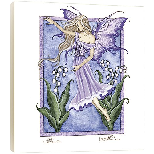 Tree-Free Greetings Lily of The Valley Fairy EcoArt Wall Plaque, 11.2 x 0.5 x 11.2 Inches (AP83573)