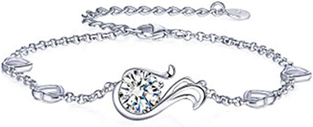 24078 Glamorousky 925 Sterling Silver Twelve Horoscope Virgo Bracelet with White Cubic Zircon