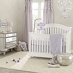 Lambs & Ivy Signature French Lavender Girl's 4 Piece Crib Bedding Set