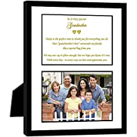 Grandmother Gift with Sweet Poem in 8x10 Frame - Birthday or Wedding Thank You - Add 4x6 Photo