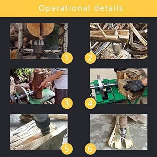 Wood Splitter Tool Firewood Drill Screw Cones Log Splitter Screw Cone Kindling Firewood Drill Bits