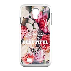 JFLIFE Beautiful Quotes Phone Case for samsung galaxy s4 White Shell Phone [Pattern-1]
