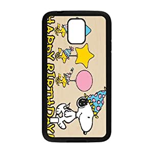 Samsung Galaxy S5 cell phone cases Black Charlie Brown and Snoopy MN689320