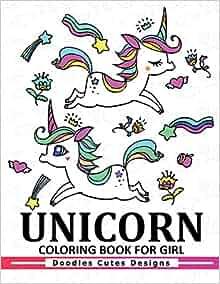 Amazon.com: Unicorn Coloring Book for girls: A Super Cute ...