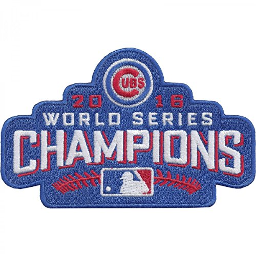 Series World Emblem Patch (Official 2016 Chicago Cubs World Series Champions MLB Sleeve Jersey Logo Patch)