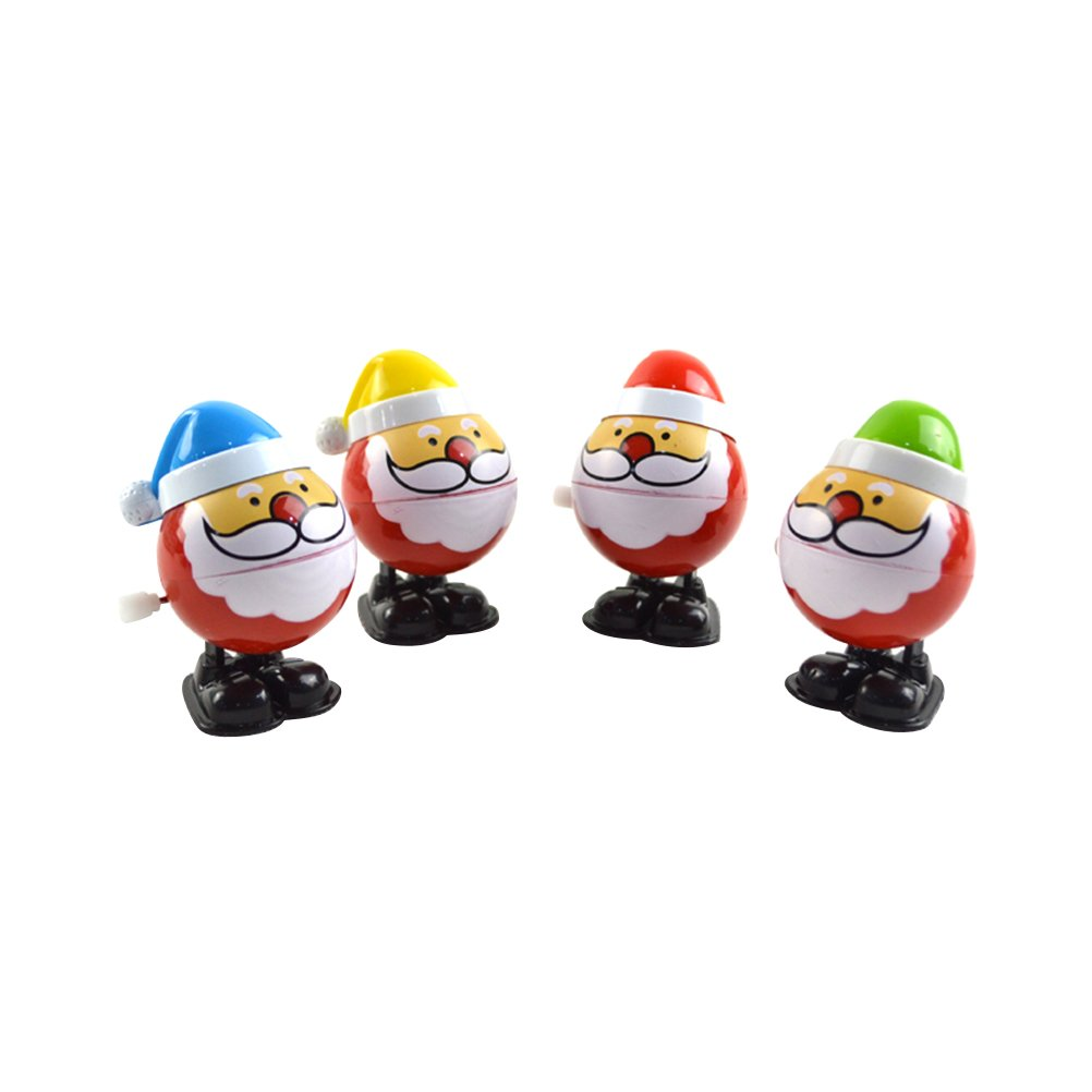 Wind Up Toys TOYMYTOY Santa Claus Walking Toys Christmas Party Favors for Kids Pack of 4