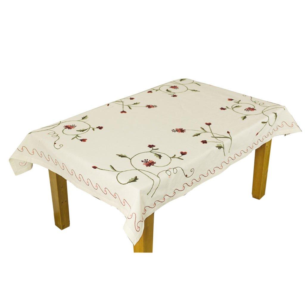 los nuevos estilos calientes 150cm150cm RenShiMinShop Moderno simple bordado manteles estilo estilo estilo pastoral mesa de café mueble de TV mesa de comedor cubierta de mesa (Talla   150cm150cm)  preferente