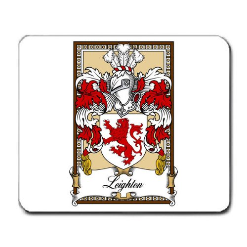 Leighton Family Crest Coat of Arms Mouse Pad