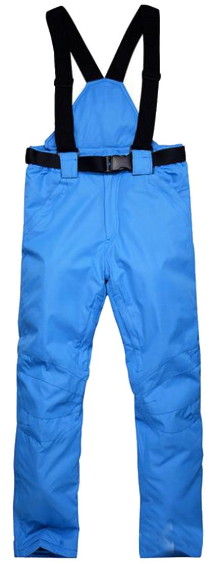 Cromoncent Women's Winter Windproof Waterproof Sports Snow Bi Ski Pants Jewelry Blue XL