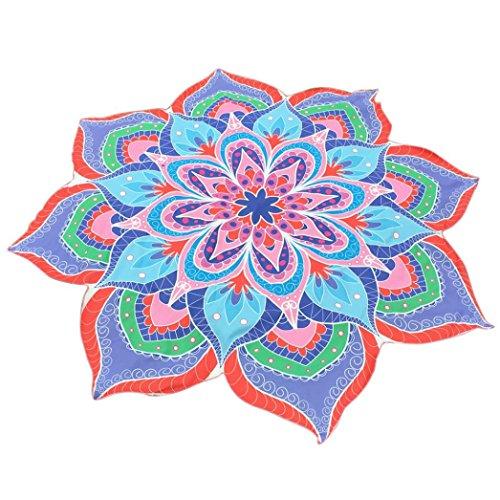 Fabal Round Printing Hippie Tapestry Beach Picnic Throw Yoga Mat Towel Blanket fashion Beach Towel (Light Blue)