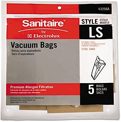 Eureka Electrolux Sanitaire Paper Bag, Style Ls Arm & Hammer 5Pk #63256A-10