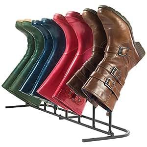 Andrew James Organizador de almacenamiento para 4pares de botas, ideal para botas de senderismo, botas de agua, botas de equitación y botas de moda