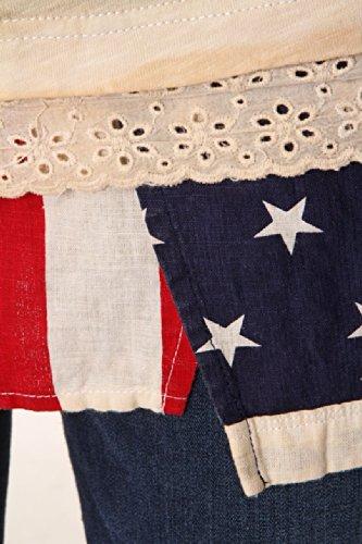 Top Spalline Penn Woolrich Flag Beige Con By rich PrndtWX68r