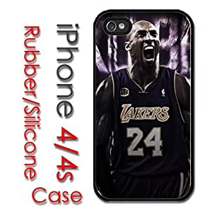 Case For Sumsung Galaxy S4 I9500 Cover Hard Silicone CaKobe Bryant Yelling Lakers baby kobe3