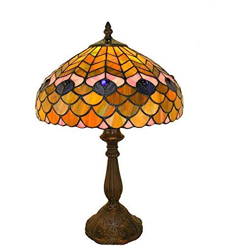 (Whse of Tiffany P400490 Tiffany-Style Peacock Table Lamp)