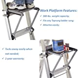 "TOPRUNG 16""x15"" Work Platform for Ladders, Heavy"