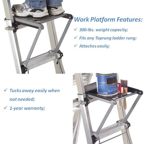 TOPRUNG 16''x15'' Work Platform for Ladders, Heavy Duty Ladder Accessory by Toprung (Image #1)