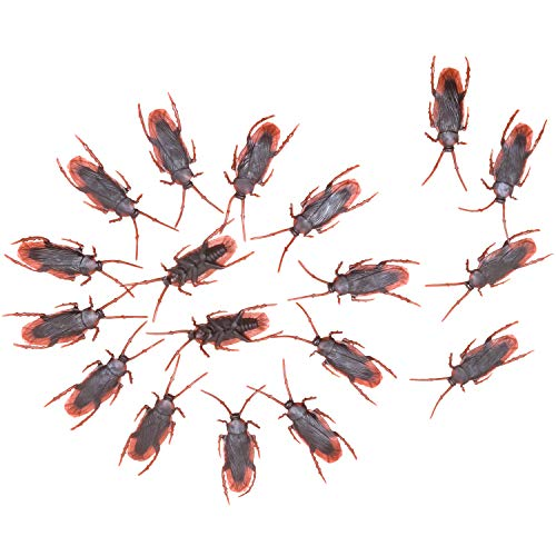 O-Best 100pcs Fake Roach Prank Novelty Cockroach Bugs Look Real
