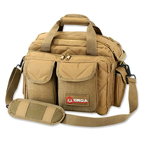 Orca Tactical Gun Pistol and Ammo Shooting Range Duffle Bag (Coyote Brown)