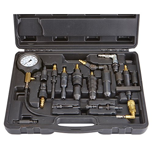 14 Piece Diesel Compression Tester Set for Cars, Trucks, Tractors ()