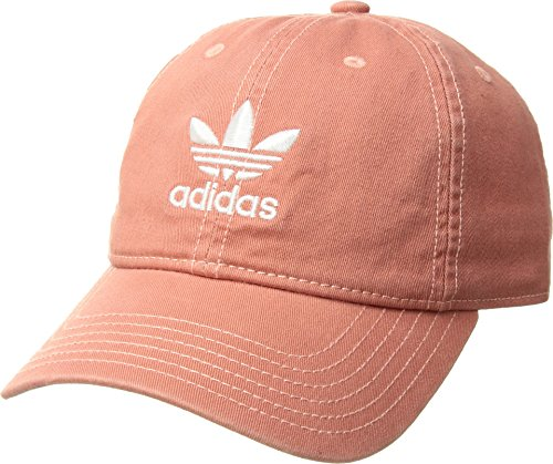 adidas Women's Originals Relaxed Fit Strapback Cap, Trace Scarlet/White, One Size