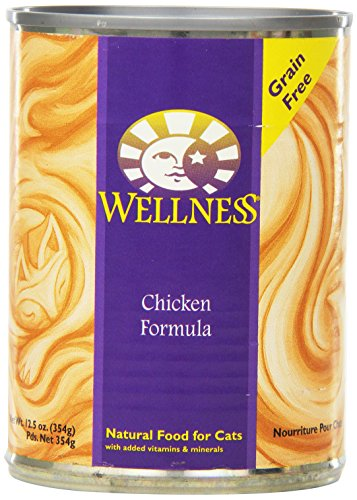 Wellness Complete Health Natural Grain Free Wet Canned Cat Food Chicken Recipe 12.5-Ounce Can (Pack of 12)