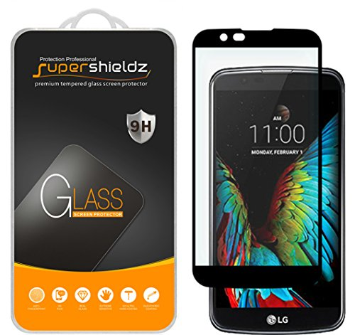 Supershieldz for LG Premier LTE Tempered Glass Screen Protector, [Full Screen Coverage] Anti-Scratch, Bubble Free, Lifetime Replacement Warranty  (Black)