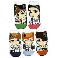 Al igual que el Starz BTS Kpop Calcetines 5 pares (Jungkook, V, Jimin, Jin, RM)