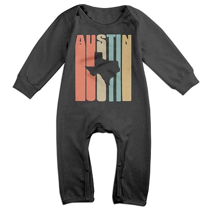 2ee0dc849 UGFGF-S3 Vintage Austin Texas Long Sleeve Infant Baby Boy Girl Baby Romper  Jumpsuit Onsies