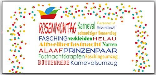 Einladungskarten Karneval Fasching Erwachsene Kindergeburtstag
