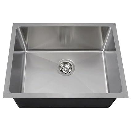 Metal Kitchen Sink 1823 18 gauge undermount single bowl 34 inch radius stainless steel 1823 18 gauge undermount single bowl 34 inch radius stainless steel kitchen workwithnaturefo