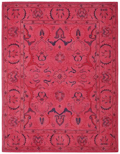 Rivet Pink Global Floral Wool Rug, 4' x 6', Pink