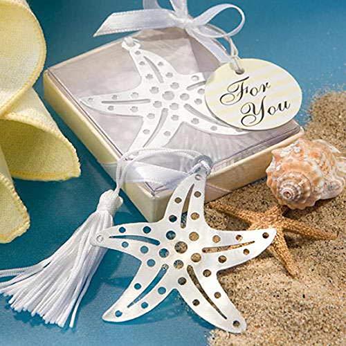 (Creative Bookmark Souvenir Wedding Bookmark Favors Cross/Butterfly/Angel/Love Design Bookmark Favors Gift (96pcs, Starfish))