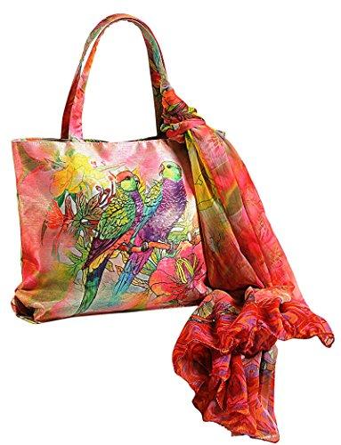 Bolsas 11 Digital Mujeres Verde Bufanda Rojo Multiusos Yuga Impresa Y Bolsos X Moda 16 Pulgadas Compras Con F8wR7ndx