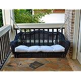 portside porch swing dark roast with cushion