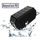 Waterproof Bluetooth Speaker, CIPO Wireless Portable Speakers with 5W*2 Dual-Driver Stereo Sound, Built-in Mic, Enhanced Bass with 24-Hour Playtime and 66-Foot Bluetooth Range for Shower and Outdoor, Compatible with Bluetooth Smart Devices and Computer