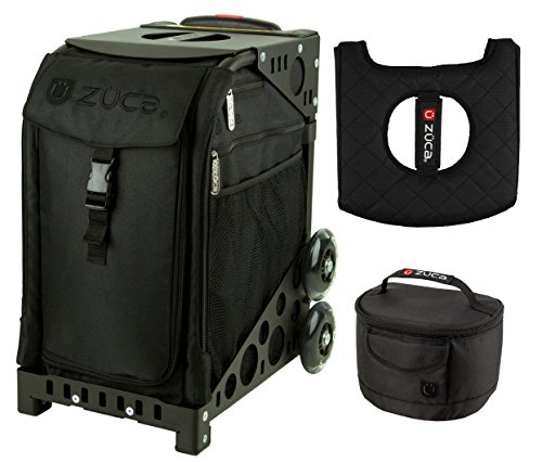 Zuca Sport Bag - Stealth with Gift Lunchbox and Seat Cover (Black Frame) by ZUCA